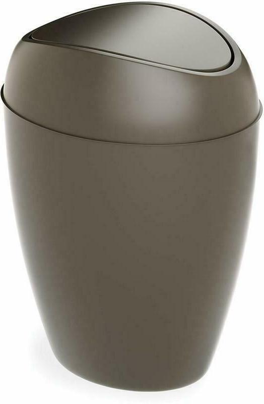 Bathroom Waste Garbage Basket Trash Can With Swing Lid 2.4Ga