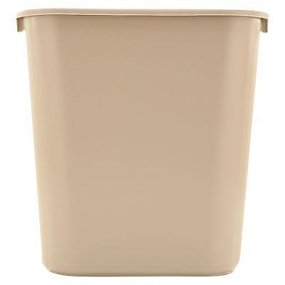 Rubbermaid Beige Soft Molded 7 gallon Plastic Trash Wastebas