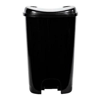 Black Trash Gallon with Foot Pedal Raise Kitchen Garbage Bin