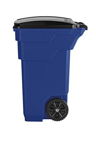 "Suncast Trash Can, 36.5"" 20.25"" 32 Capacity, Blue"