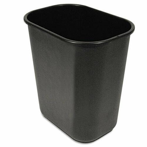 boardwalk soft sided wastebasket 28qt plastic black