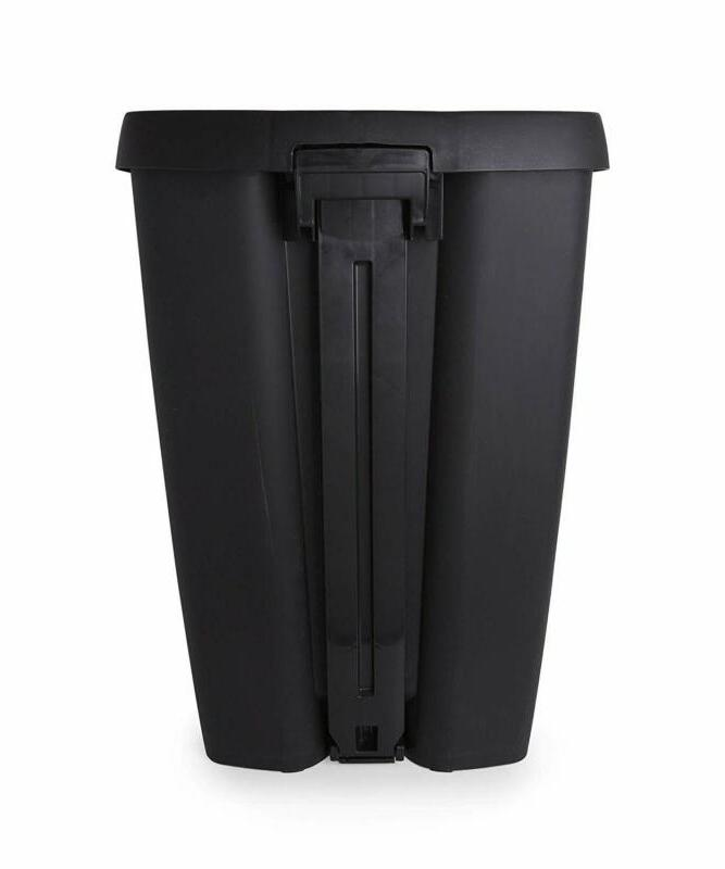 Umbra Gallon Trash Lid-Large Garbage Can with Stainless Steel Fo