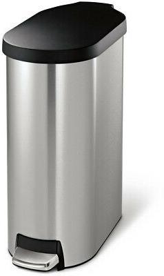 simplehuman Brushed Stainless Steel & Plastic Lid 45 Liter S