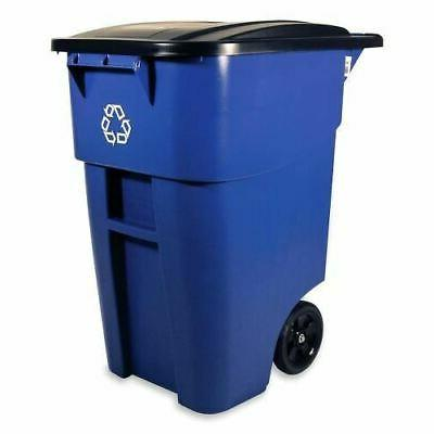 Rubbermaid Brute 9W2706BE Recycling Container with Lid 9W2706BE