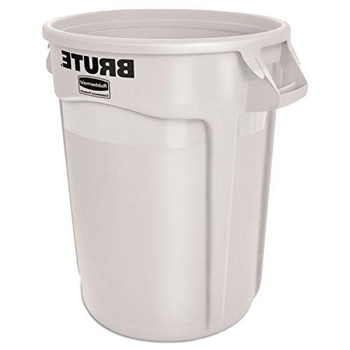 Rubbermaid Commercial BRUTE Can, Gallon, White, FG263200WHT