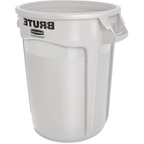 Rubbermaid BRUTE Can, 32 Gallon, White, FG263200WHT