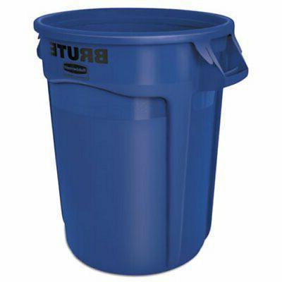 """Brute 2632 BLU 22"""" Diameter x 27-1/4"""" Height, 32 gallon Blue"""