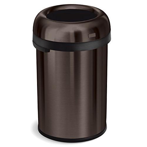 bullet open trash can