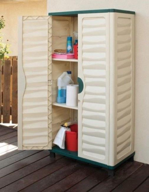 cabinet shed patio utility lockable tools pool