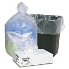 """Can Liners, 7-10 Gallon, 24""""""""x24"""""""", 500/CT, Translucent, Sol"""