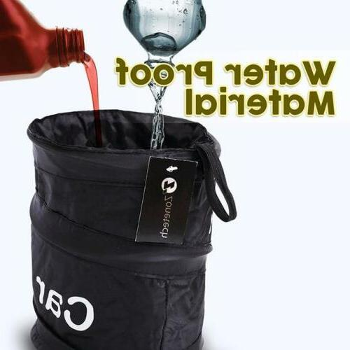 collapsible portable garbage can bin car waste