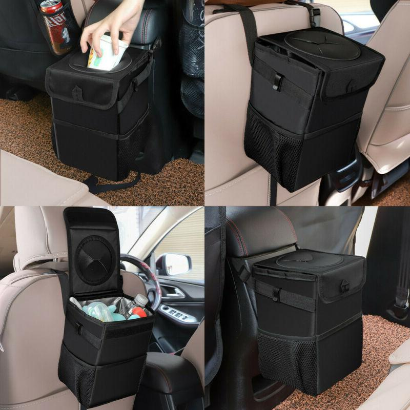 car trash bag can premium leather leakproof