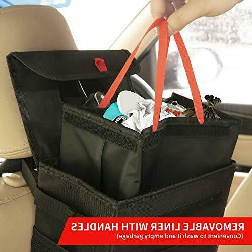 QUARKACE Car Leakproof Garbage with Lid, Collapsible