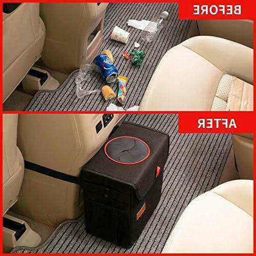 QUARKACE Can, Leakproof Car Can with Lid, Collapsible