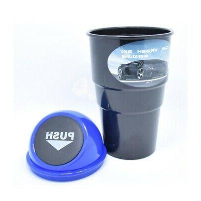 Car Trash Lid Bin Storage Cup Holder US