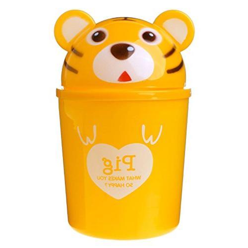 cartoon animal table dustbin sundries