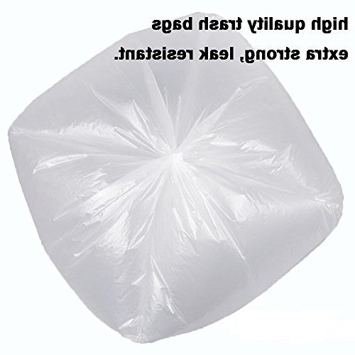 XYBAGS Clear Small Trash liters for Office, Bathroom, Counts,
