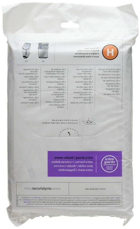 Simplehuman Bags Drawstring Can Liners Garbage