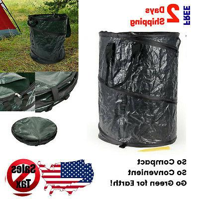 collapsible trash can pop up garbage bin
