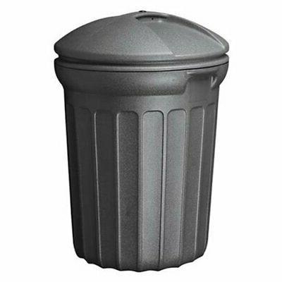 United Comb 32 Gallon Black Round Trash Can TB0007 Pack