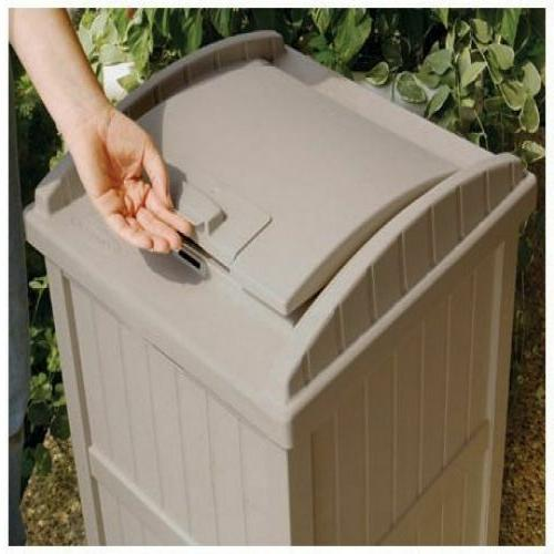 Trash Can Garbage Shed Resin Wicker