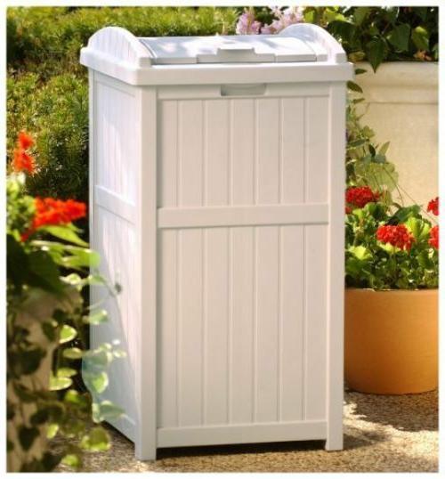 Trash Can Bin Garbage Wastebasket Hideaway Shed