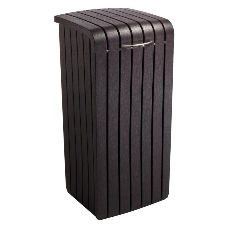 copenhagen wood plastic trash bin