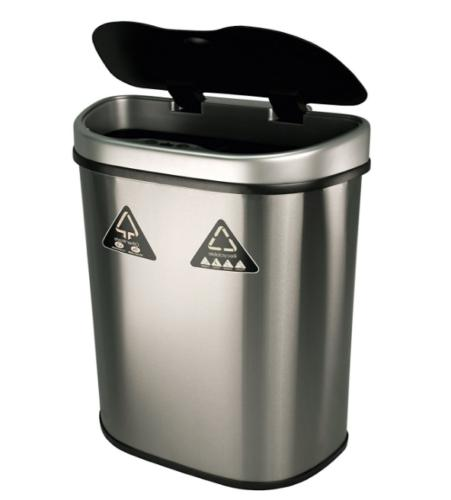 Double Stainless Trash Bin Touchless