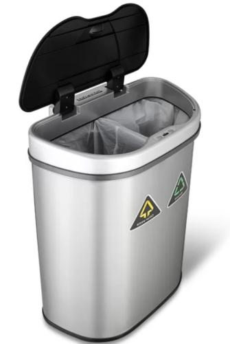Double Trash Touchless Sorter Can
