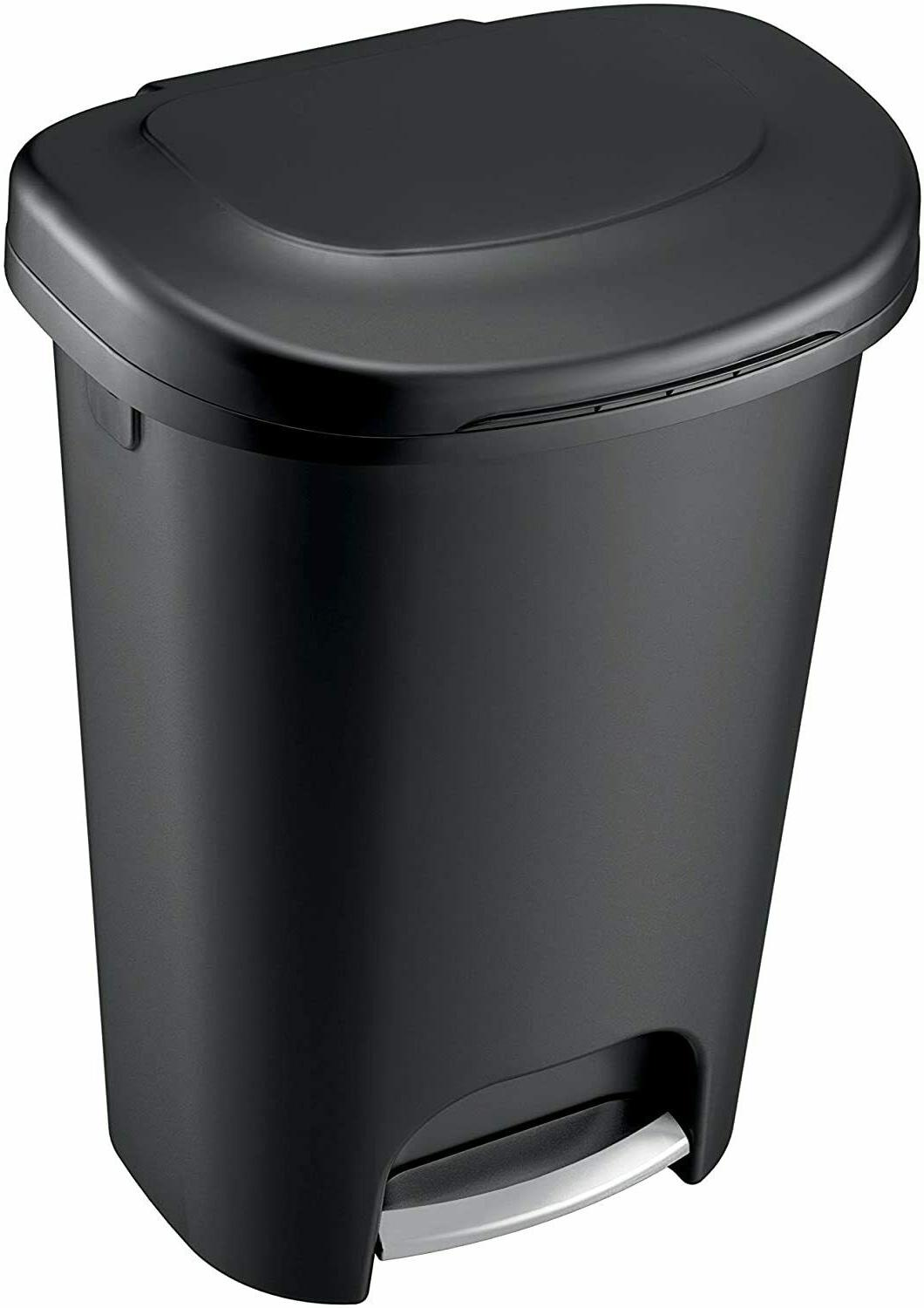 Step On Can and Garbage 13 Gallon Black