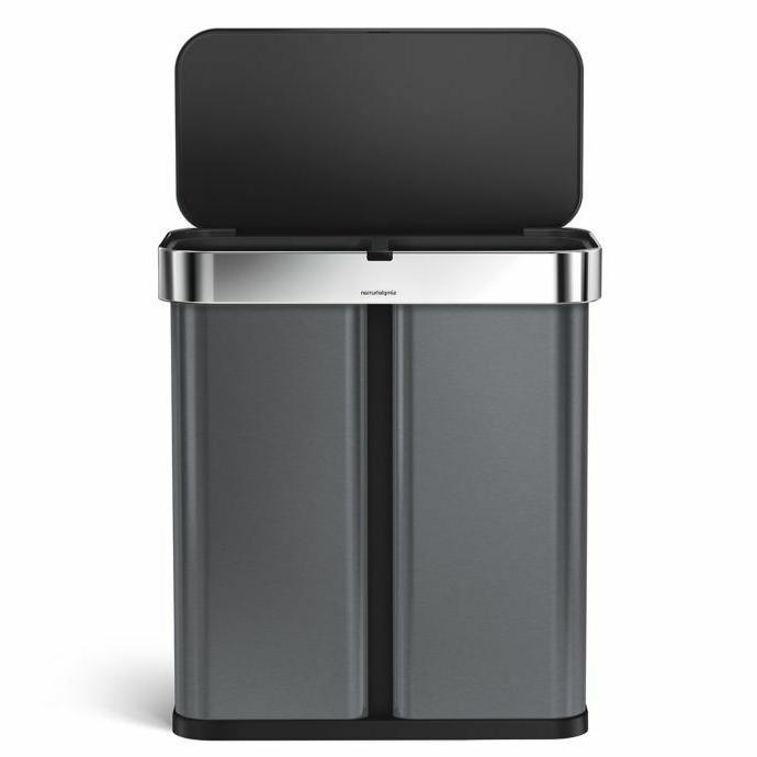 dual compartment rectangular sensor trash