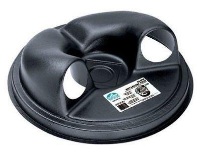 dust collection lid separator for trash can