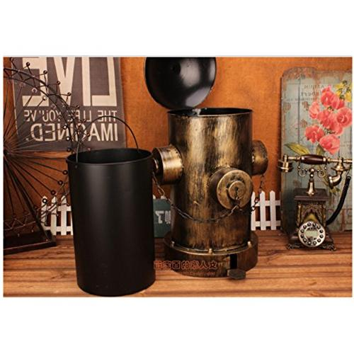 European can,Creative Iron Waste with lid Pedal Kitchen Room Home Industrial 36x59cm