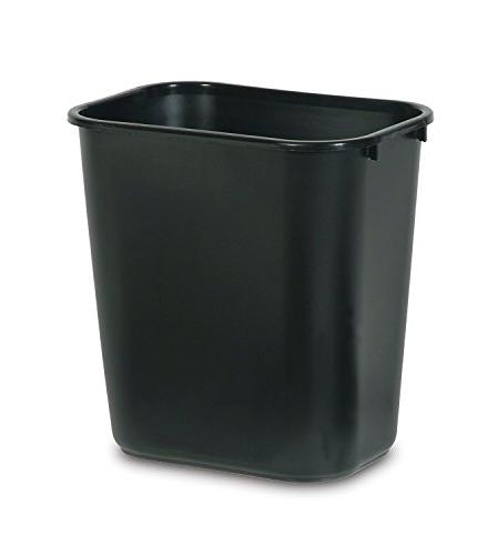 fg295600bla plastic deskside wastebasket
