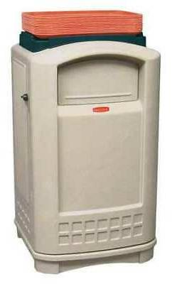 RUBBERMAID COMMERCIAL PRODUCTS FG396300BEIG 50 gal. Plastic