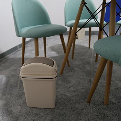 HMANE Waste Bins, Plastic Can Living Flip Garbage Bin -