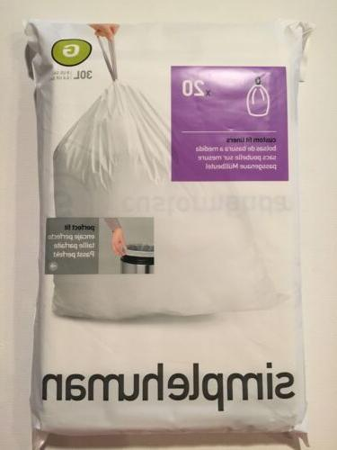 G Simplehuman Trash Can Liners G Bags