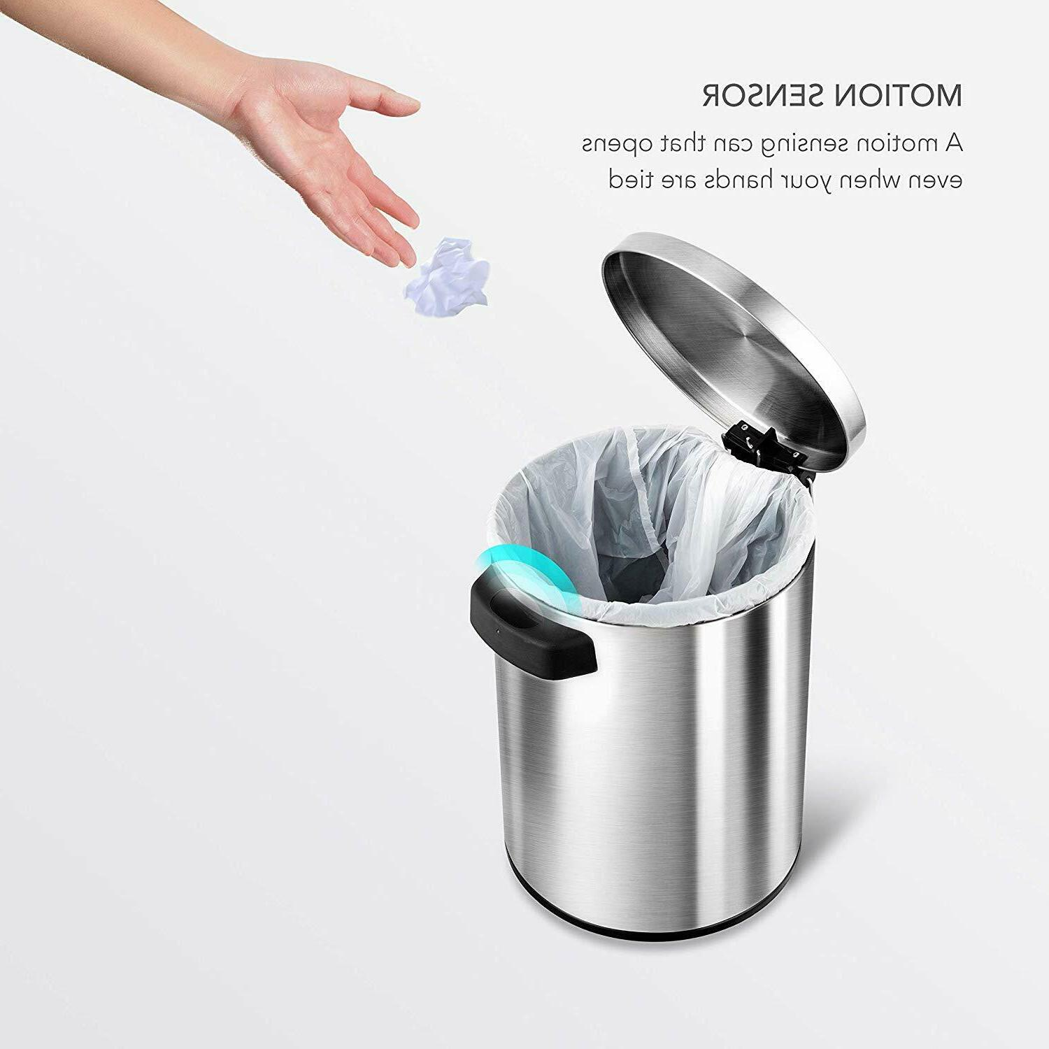 GARBAGE BIN TRASH AUTOMATIC INFRARED MOTION SENSOR LID HOME