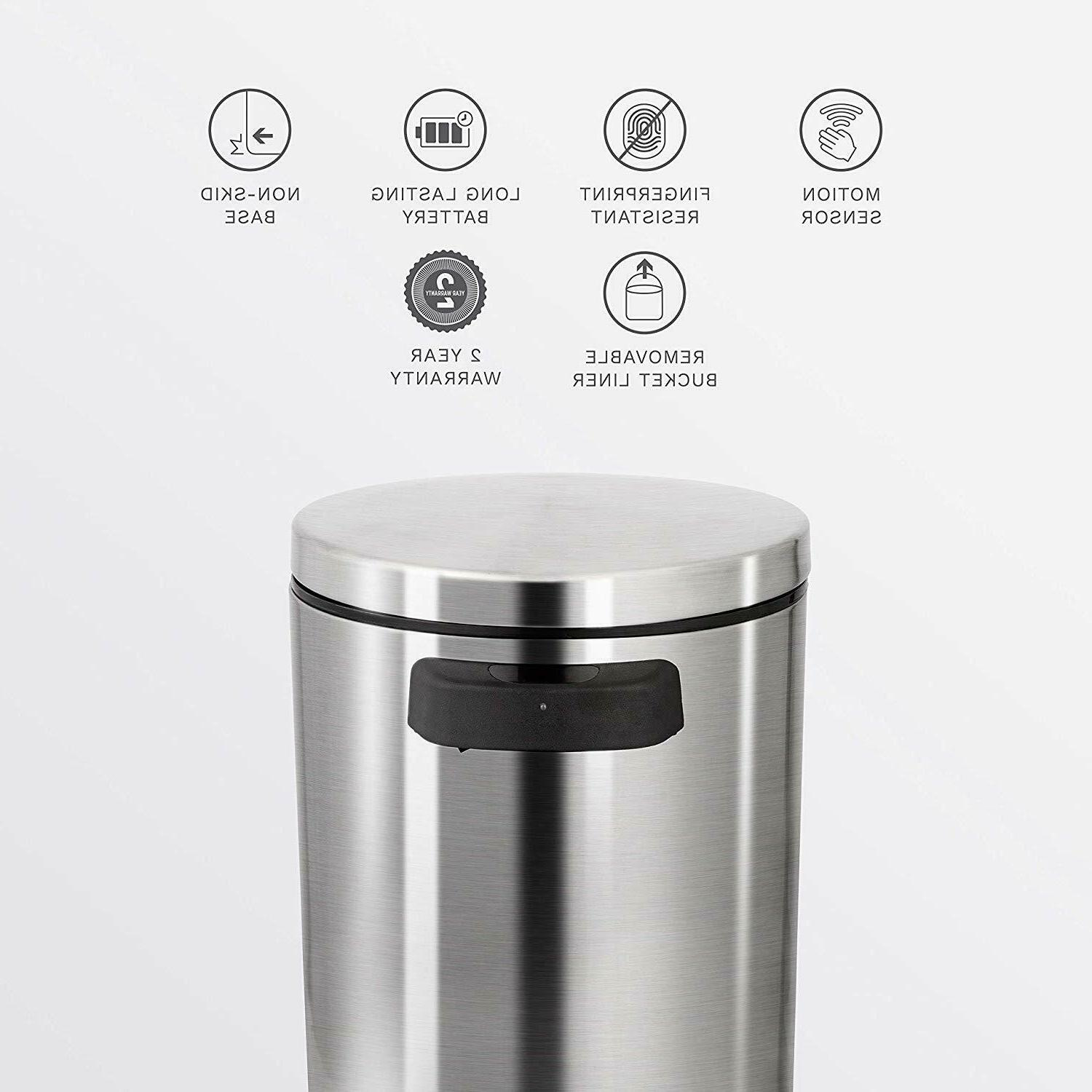 garbage bin trash can automatic touchless infrared