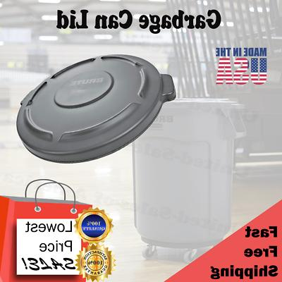 Garbage Can Lid 32 Gallon Commercial Round Brute Container L