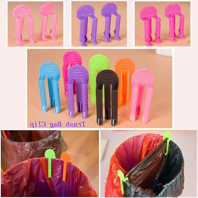 garbage clip color trash can clips clamp