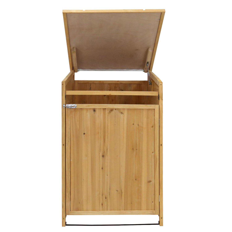Garbage Storage Horizontal Hidden Can Organizer Bin Outdoor