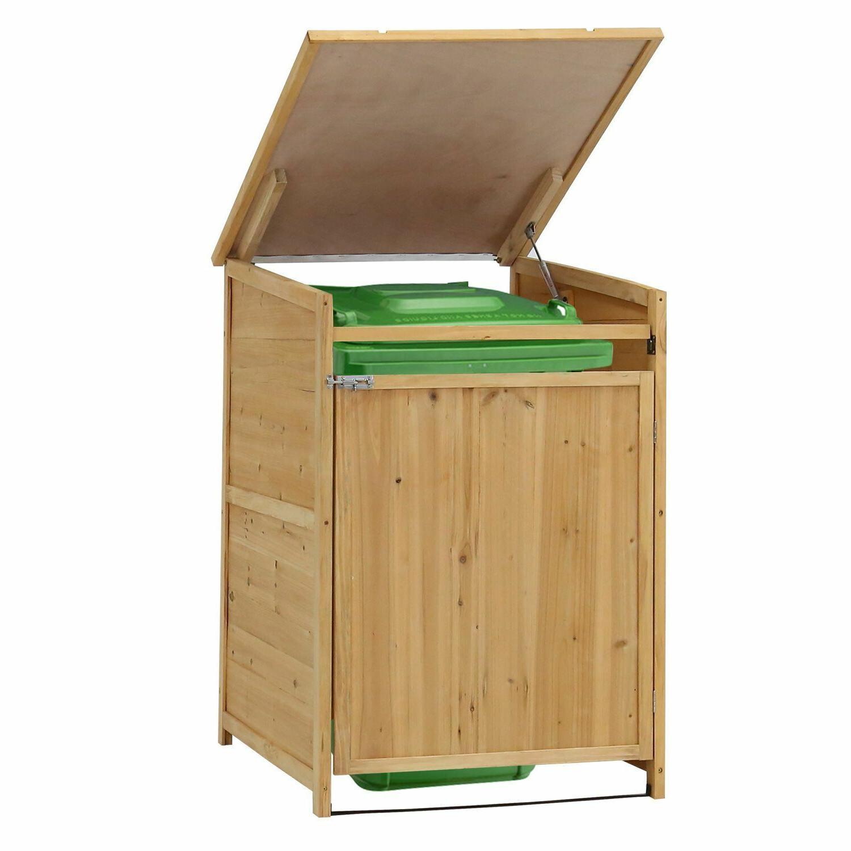 garbage storage refuse shed horizontal hidden trash
