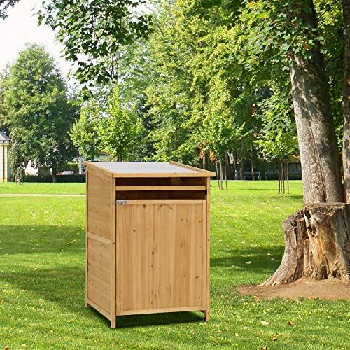 Kinbor Garbage Storage Shed Hideway Wooden