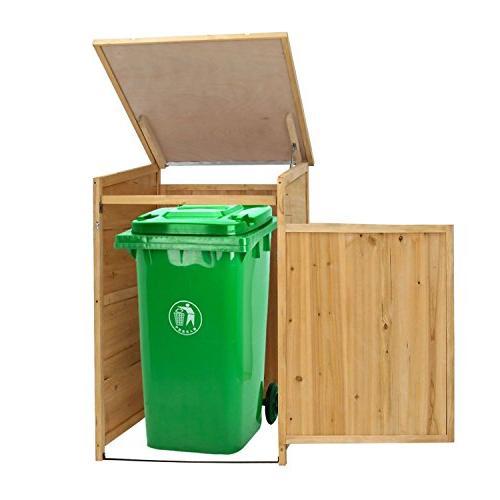 garbage storage shed trash can