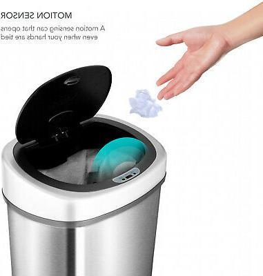 Garbage Can Motion Sensor Stainless Steel