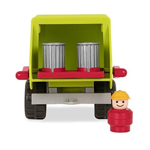 Battat with Garbage Bins and 1 Toy Trucks Toddlers 18m+ , Lime Green