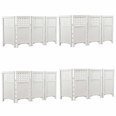 Suncast Outdoor Garden Yard 4 Panel Screen Enclosure Gated F