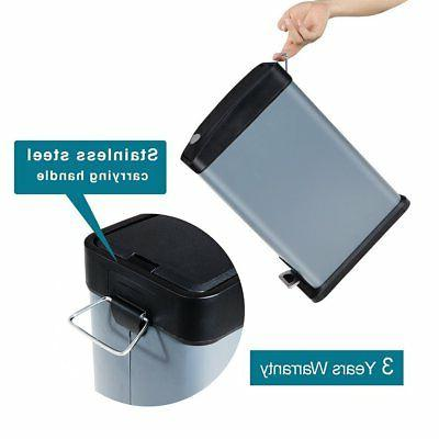 H+LUX Trash Can with Lid, Rectangular Garbage Can Inner