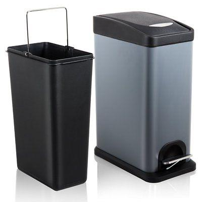 h lux trash can with lid small